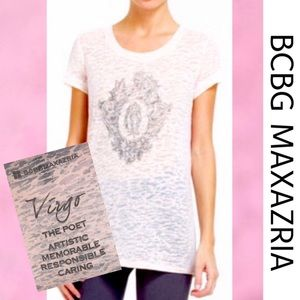 BCBG Virgo Sheer Tee Small